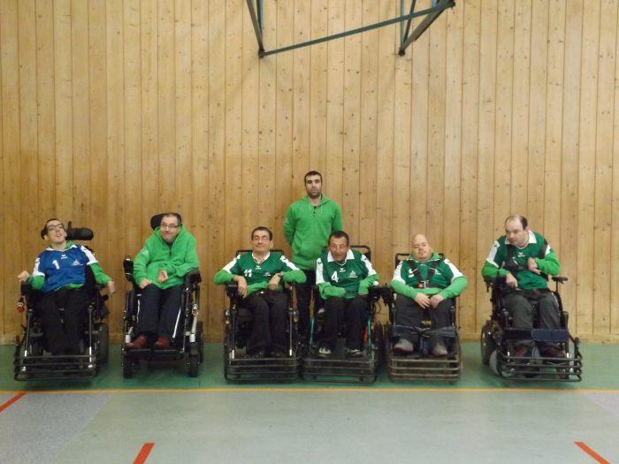 équipe du foot fauteuil